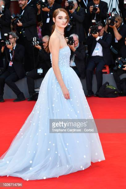 Actress Raffey Cassidy walks the red carpet ahead of the 'Vox Lux' screening during the 75th Venice Film Festival at Sala Grande on September 4 2018...