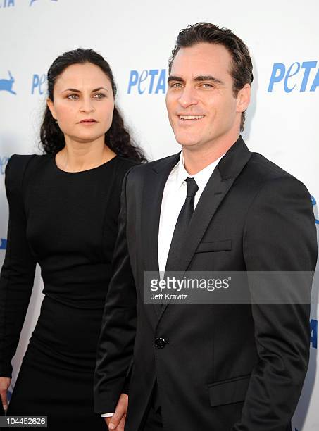 Actress Rain Phoenix and actor Joaquin Phoenix arrive at PETA's 30th Anniversary Gala and Humanitarian Awards at The Hollywood Palladium on September...