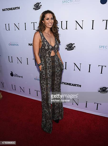 Actress Rainbeau Mars attends the world premiere of UNITY at the DGA Theater on June 24 2015 in Los Angeles California