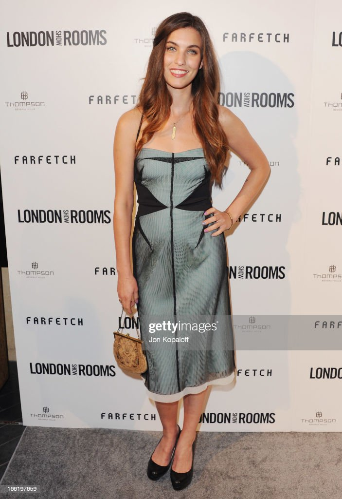Actress Rainey Qualley arrives at the British Fashion Council Celebrates 'London Show Rooms LA' at Thompson Hotel on April 9, 2013 in Beverly Hills, California.