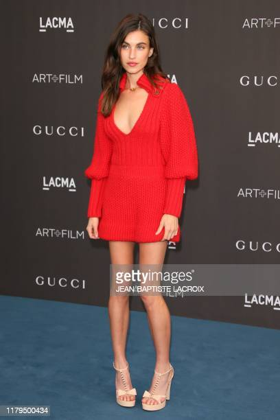 US actress Rainey Qualley arrives for the 2019 LACMA ArtFilm Gala at the Los Angeles County Museum of Art in Los Angeles on November 2 2019