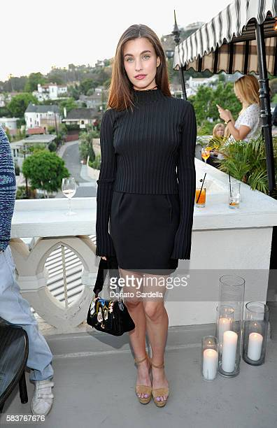Actress Rainey Qualley attends Elizabeth and James Flagship Store Opening Celebration with InStyle at Chateau Marmont on July 26 2016 in Los Angeles...