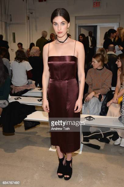 Actress Rainey Qualley attends the Dion Lee collection during New York Fashion Week The Shows at Gallery 2 Skylight Clarkson Sq on February 11 2017...