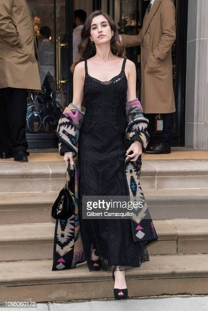 Actress Rainey Qualley is seen leaving Ralph Lauren Spring/Summer 2019 fashion show during New York Fashion Week at Ralph's Coffee at Ralph Lauren...