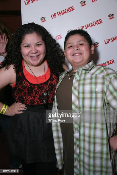 Actress Raini Rodriguez and actor Rico Rodriguez and Lipsmacker at Melanie Segal's Kids Choice Lounge for Save the Children Day 1 at The Magic Castle...