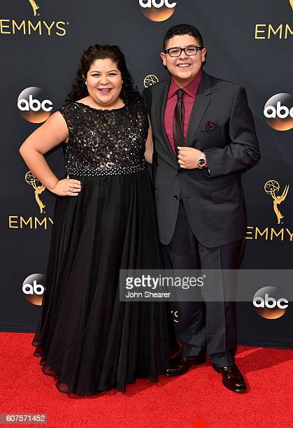 Actress Raini Rodriguez and actor Rico Rodriguez arrive at the 68th Annual Primetime Emmy Awards at Microsoft Theater on September 18 2016 in Los...