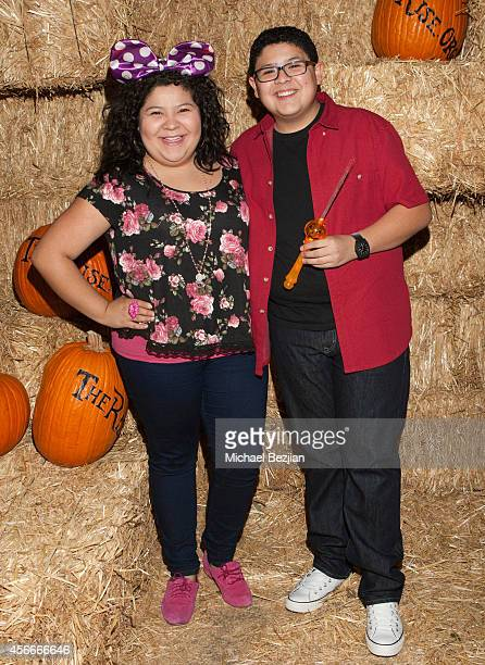 "Actress Raini Rodriguez and actor Rico Rodriguez attend ""Rise Of The Jack O'Lanterns"" - Los Angeles Premiere at Descanso Gardens on October 4, 2014..."