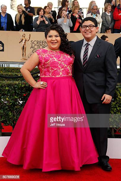 Actress Raini Rodriguez and actor Rico Rodriguez attend the 22nd Annual Screen Actors Guild Awards at The Shrine Auditorium on January 30 2016 in Los...