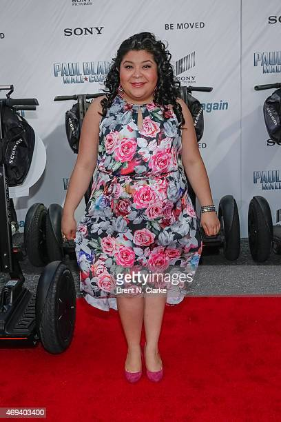 "Actress Raini Rodriguez arrives for the ""Paul Blart: Mall Cop 2"" New York Premiere at AMC Loews Lincoln Square on April 11, 2015 in New York City."
