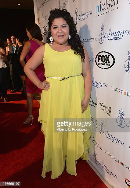 Actress Raini Rodriguez arrives to the 28th Annual Imagen Awards at The Beverly Hilton Hotel on August 16, 2013 in Beverly Hills, California.