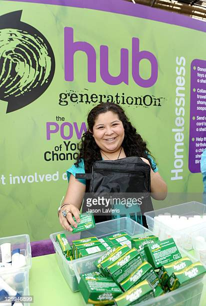 Actress Raini Rodriguez at the Hub booth during Variety's 5th annual Power Of Youth event presented by The Hub at Paramount Studios on October 22,...