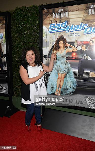 Actress Raini Rodriguez attends the Los Angeles premiere of the Disney Channel Original Movie 'Bad Hair Day' at Walt Disney Studios on February 10...