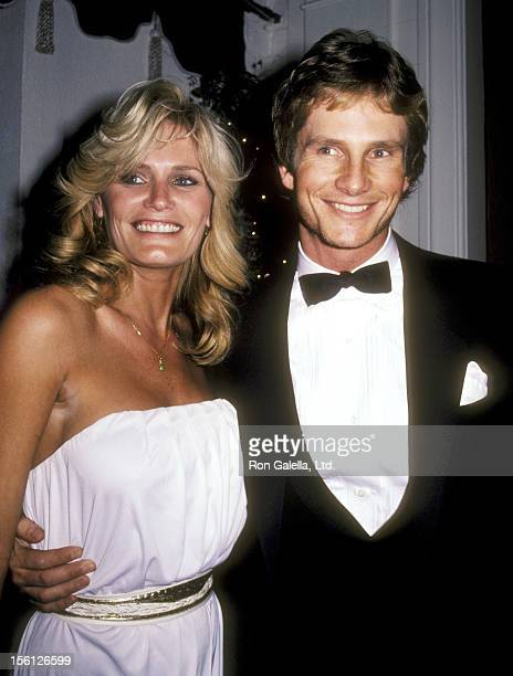 Actress Randi Brooks and Actor Jeffrey Byron attend the WrapUp Party for the First Season of 'Wizards and Warriors' on February 18 1983 at Chasen's...