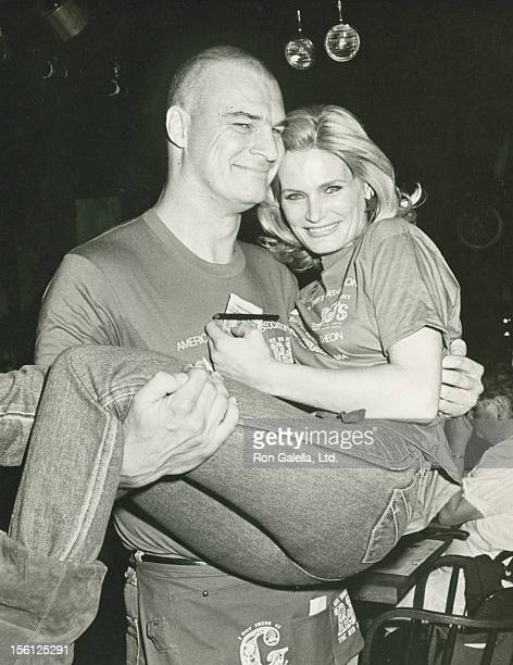 Actress Randi Brooks and actor Richard Moll attending 'Celebrity Waiters Luncheon Benefiting The American Diabetes Association' on February 18 1984...