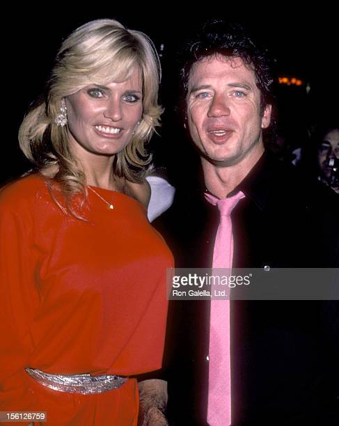 Actress Randi Brooks and Actor Tom Wopat partying after Tom Wopat's Concert Performance on June 20 1983 at Lone Star Cafe in New York City New York