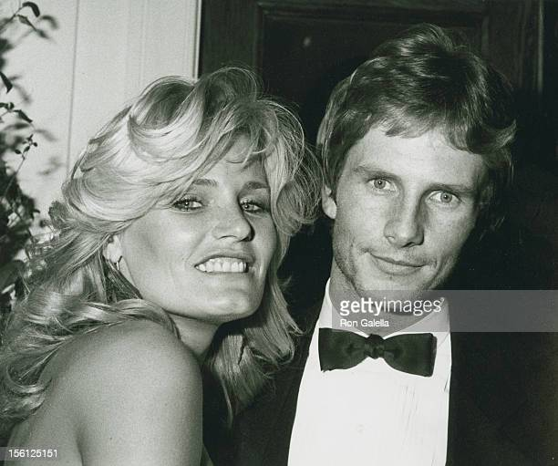Actress Randi Brooks and date Jeff Byron attending the wrap party for 'Wizards and Warriors' on February 18 1983 at Chasen's Restaurant in Beverly...