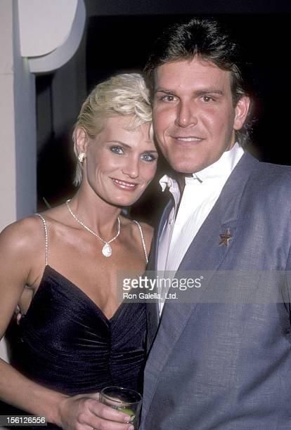 Actress Randi Brooks and husband Joseph Brazen attend the Hollywood Walk of Fame Ceremony Honoring Stephen J Cannell on January 14 1986 at 7000...