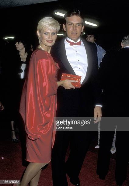 Actress Randi Brooks and husband Joseph Brazen attend 'The Naked Cage' Hollywood Premiere Party on February 22 1986 at The Cannon Group Inc...