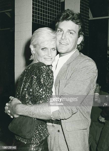 Actress Randi Brooks and husband Joseph Brazen being photographed on February 21 1986 at Nicky Blair's Restaurant in Hollywood California