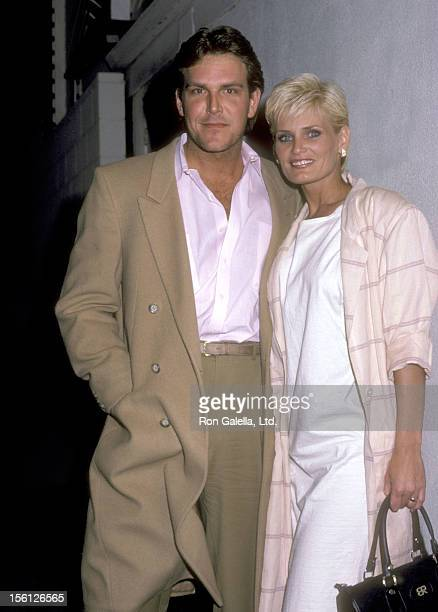 Actress Randi Brooks and husband Joseph Brazen on December 1 1985 dining at Spago in West Hollywood California