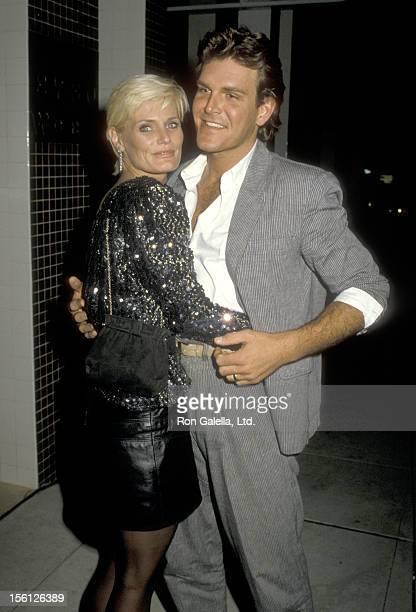 Actress Randi Brooks and husband Joseph Brazen on February 21 1986 dining at Nicky Blair's Restaurant in Hollywood California