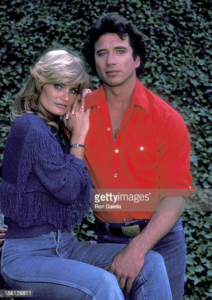 Actress Randi Brooks and Tom Wopat Pose for an Exclusive Photo Session on April 16 1983 at Crestwood Hills Park in Los Angeles California