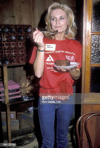 Actress Randi Brooks attend the American Diabetes Association's Celebrity Waiters Luncheon on February 18 1984 at RJ's the Rib Joint in Beverly Hills...