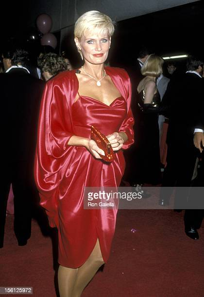 Actress Randi Brooks attends 'The Naked Cage' Hollywood Premiere Party on February 22 1986 at The Cannon Group Inc Headquarters in Hollywood...