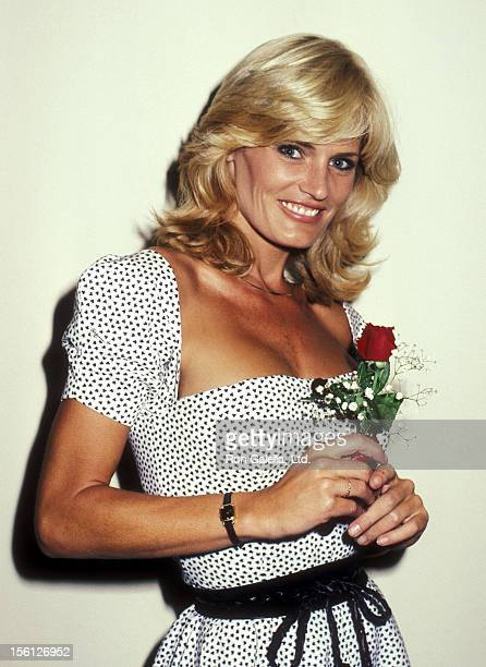Actress Randi Brooks on August 1 1983 dining at Spago in West Hollywood California