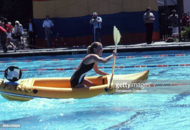 Actress Randi Oakes in the Battle of the Network Stars Episode Ten which was filmed in May 1981 in Los Angeles California