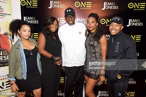 Actress Raney Branch SVP D'Angela Proctor Director Bill Duke actress Erica Ash and actor Allen Maldonado attend the Los Angeles Screening Of TV One's...