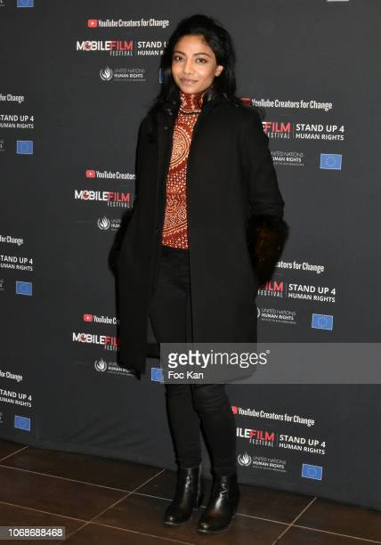 Actress Rani Bheemuck attends 'Mobile Film Festival Stand Up 4 Human Rights Awards' Ceremony Hosted by Youtube Creators For Change at Cinema MK2...