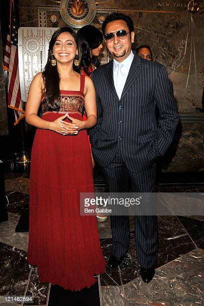 Actress Rani Mukherjee and Actor Gulshan Grover visit The Empire State Building on August 19 2011 in New York City