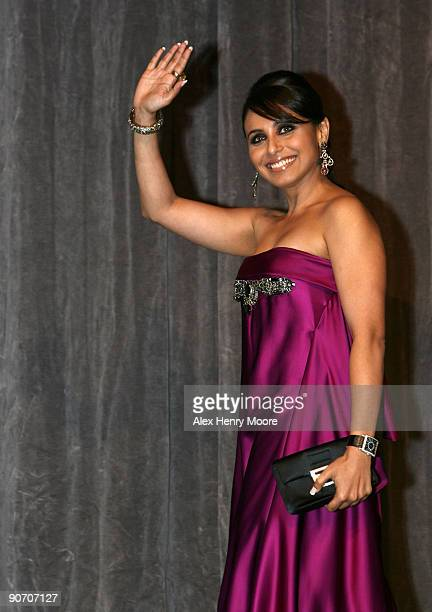 Actress Rani Mukherjee speaks at My Heart Goes Hadippa premiere at the Roy Thomson Hall during 2009 Toronto International Film Festival on September...