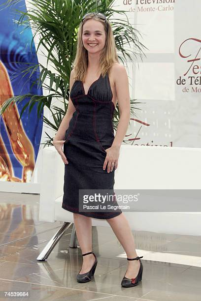 Actress Raphaelle Lubansu attends a photocall promoting the television series 'PJ' and 'Avocats Associes' on the first day of the 2007 Monte Carlo...