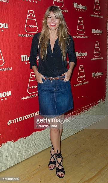 Actress Raquel Merono attends 'Manzana Mahou 330' inaguration party at Santa Barbara palace on June 10 2015 in Madrid Spain