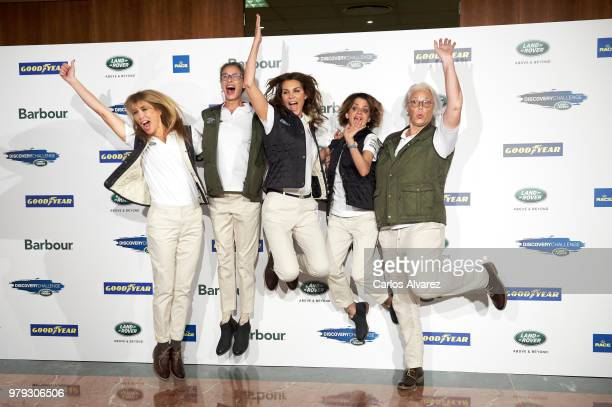Actress Raquel Merono Paola Dominguin model Mar Flores actress Macarena Gomez and Lucia Dominguin present 'Land Rover Discovery Challenge' 2018 at...