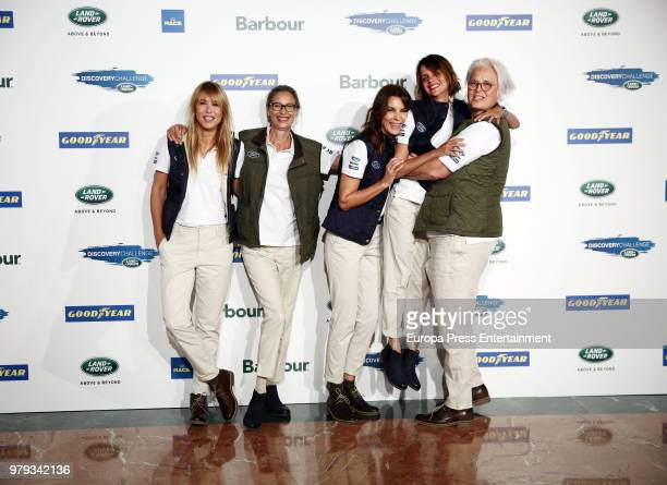Actress Raquel Merono Paola Dominguin model Mar Flores actress Macarena Gomez and Lucia Dominguin attend Land Rover Discovery Challenge presentation...