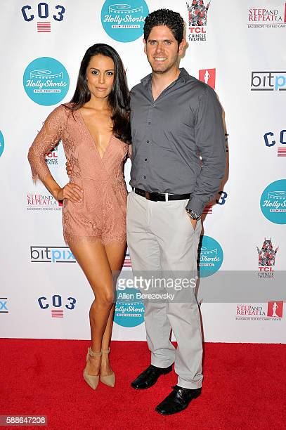 Actress Raquel Pomplun and husband Alejandro Pomplun attend the 12th Annual HollyShorts Opening Night Celebration at TCL Chinese 6 Theatres on August...