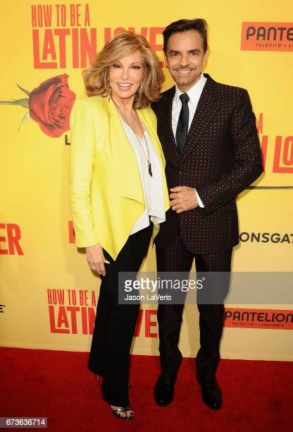Actress Raquel Welch and actor Eugenio Derbez attend the premiere of 'How to Be a Latin Lover' at ArcLight Cinemas Cinerama Dome on April 26 2017 in...