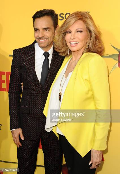 Actress Raquel Welch and actor Eugenio Derbez attend the premiere of How to Be a Latin Lover at ArcLight Cinemas Cinerama Dome on April 26 2017 in...