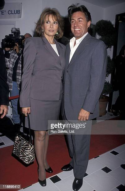 Actress Raquel Welch and boyfriend Richard Palmer attend the International Sportsmedicine Institute Grand Opening Celebration on October 2 1998 at...