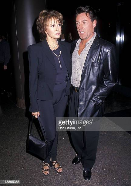 Actress Raquel Welch and boyfriend Richard Palmer attend the Screening of the HBO Original Movie Gia on November 26 1998 at the DGA Theatre in Los...
