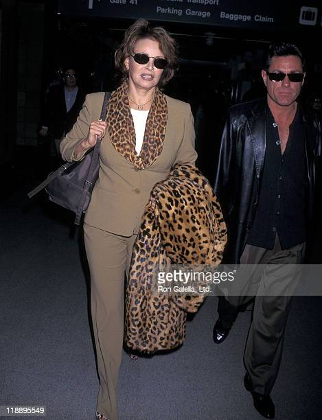 Actress Raquel Welch and boyfriend Richard Palmer depart for New York City on March 2 1998 at the Los Angeles International Airport in Los Angeles...