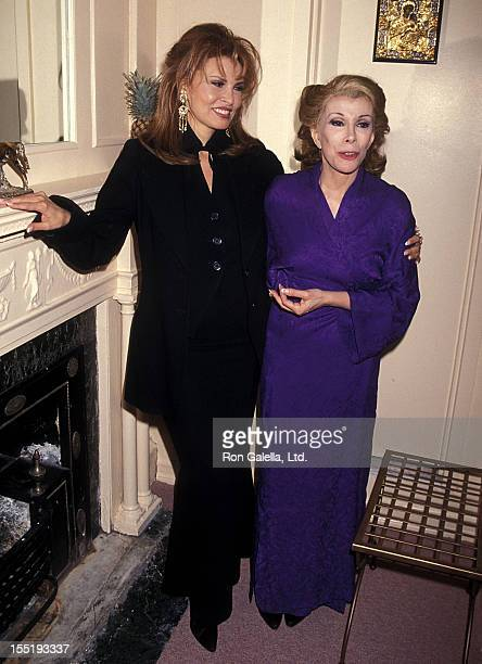 Actress Raquel Welch and comedienne/actress Joan Rivers attend the 'Sally Marrand her escorts' Broadway Play Preview Performance on April 22 1994 at...