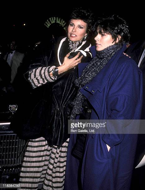 Actress Raquel Welch and daughter Tahnee Welch attend the Scarface Premiere Party on December 1 1983 at Sardi's Restaurant in New York City