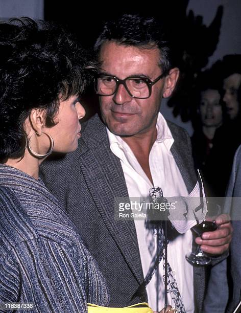 Actress Raquel Welch and director Milos Forman attend the 'Amadeus' Premiere Party on September 12 1984 at The Limelight in New York City