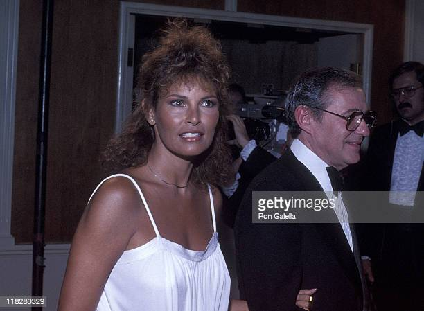 Actress Raquel Welch and guest attend the Sixth Annual American Film Institute Lifetime Achievement Award Salute to Henry Fonda on March 1 1978 at...