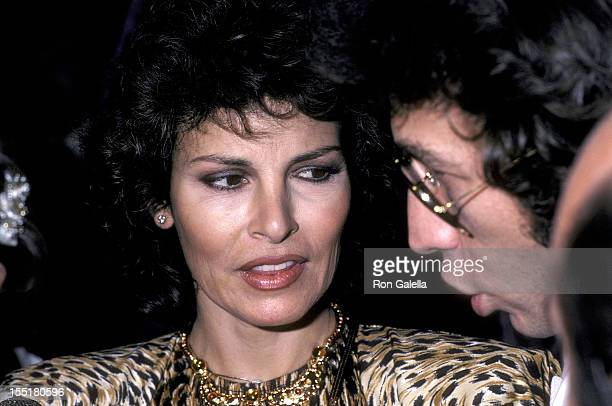 Actress Raquel Welch and husband Andre Weinfeld attend the First Annual American Film Market After Party on March 24 1981 at Samuel Goldwyn Studios...