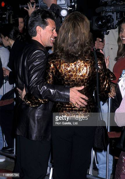 "Actress Raquel Welch and husband Richard Palmer attend the ""Bedazzled"" Westwood Premiere on October 17, 2000 at Mann Village Theatre in Westwood,..."
